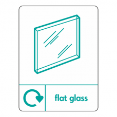Flat Glass Recycling Sign (WRAP)