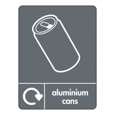 Aluminium Cans Recycling Sign (WRAP)