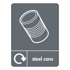 Steel Cans Recycling Sign (WRAP)