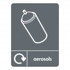 Aerosols Recycling Sign (WRAP)
