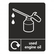 Used Engine Oil Recycling Sign (WRAP)