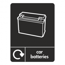 Car Batteries Recycling Sign (WRAP)