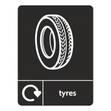 Tyres Recycling Sign (WRAP)