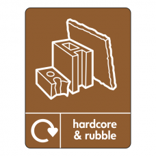 Hardcore & Rubble Recycling Sign (WRAP)