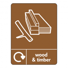Wood & Timber Recycling Sign (WRAP)