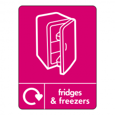 Fridges & Freezers Recycling Sign (WRAP)