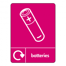 Batteries Recycling Sign (WRAP)