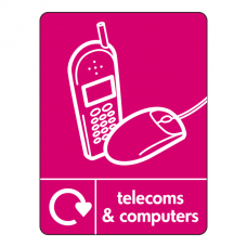 Telecoms & Computers Recycling Sign (WRAP)