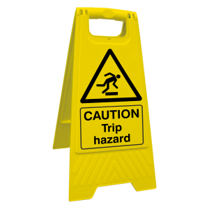 Caution Trip Hazard Floor Stand