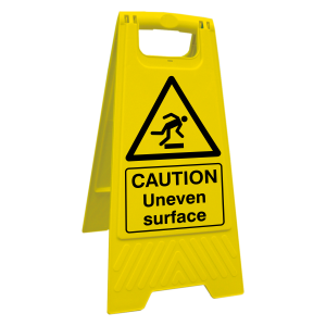 Caution Uneven Surface Floor Stand