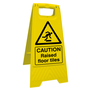 Caution Raised Floor Tiles Floor Stand