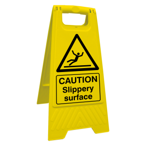 Caution Slippery Surface Floor Stand
