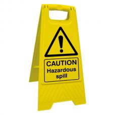 Caution Hazardous Spill Floor Stand