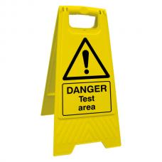 Danger Test Area Floor Stand