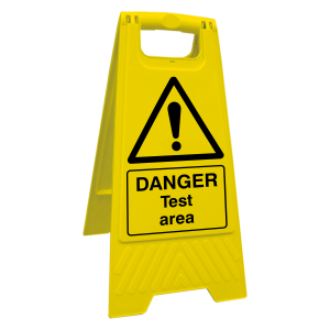 Danger Test Area Floor Stand