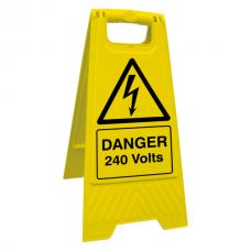 Danger 240 Volts Floor Stand