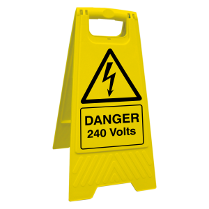 Danger 240 Volts Floor Stand
