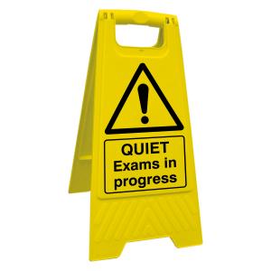 QUIET Exams In Progress Floor Stand