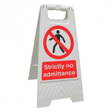 Strictly No Admittance Floor Stand