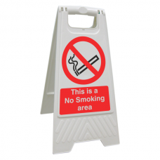 This Is A No Smoking Area Floor Stand