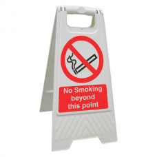 No Smoking Beyond This Point Floor Stand