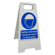 Safety Helmets Must Be Worn In This Area Floor Stand