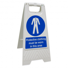 Protective Clothing Must Be Worn In This Area Floor Stand