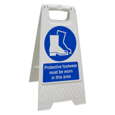 Protective Footwear Must Be Worn in This Area Floor Stand