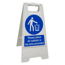 Please Place All Rubbish In The Bins Provided Floor Stand