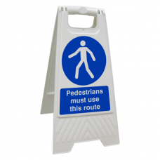 Pedestrians Must Use This Route Floor Stand