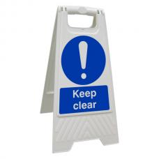 Keep Clear Floor Stand