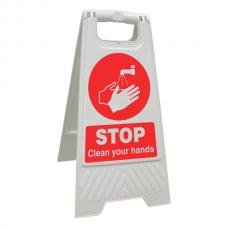 Stop Clean Your hands Floor Stand