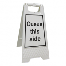 Queue This Side Floor Stand