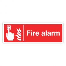 Fire Alarm Sign (Landscape)
