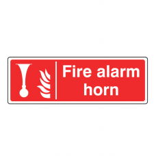 Fire Alarm Horn Sign (Landscape)
