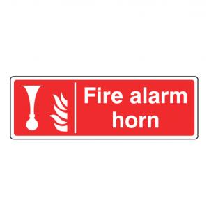 Fire Alarm Horn Sign (Landscape)