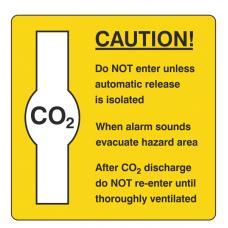 Caution CO2 Sign