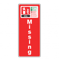 Fire Extinguisher Missing Sign + ID