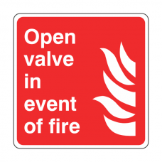 Open Vale in Event of Fire Sign