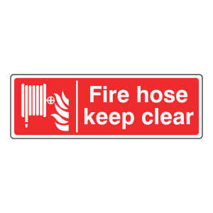 Fire Hose Keep Clear Sign (Landscape)