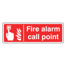 Fire Alarm Call Point Sign (Landscape)