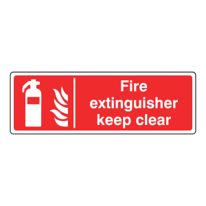 Fire Extinguisher Keep Clear Sign (Landscape)