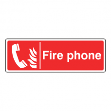 Fire Phone Sign (Landscape)