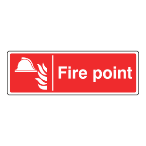 Fire Point Sign (Landscape)