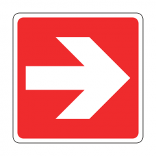 Red Straight Arrow Sign