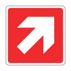 Red Diagonal Arrow Sign