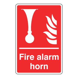 Fire Alarm Horn Sign