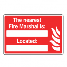 The Nearest Fire Marshal Is Sign