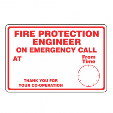 Fire Protection Engineer on Emergency Call Sign