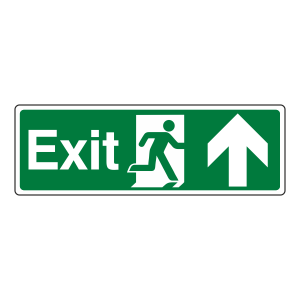 Exit Arrow Up Sign